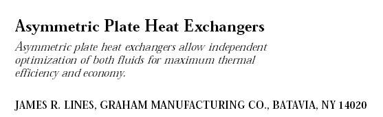 Asymmetric Plate Heat Exchangers